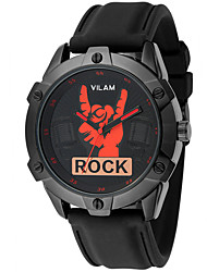 Men's New Cool Watch Fingers Model Design Fashion Rock Word Watch Trends Quality Rubber Band Japan Quartz Black Watch