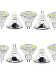 3W GU4(MR11) Decoration Light MR11 12 SMD 5730 380LM lm Warm White / Cool White Decorative 9-30 V 10 pcs