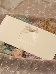 Side Fold Wedding Invitations 50-Invitation Cards Classic Style Butterly Style Fairytale Theme Pearl Paper Ribbons