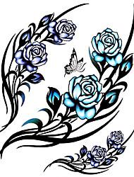 11 Assorted Patterns Waterproof Temporary Tattoo Sticker Body Art Wrist Tattoos with 3PCS Small Tattoos