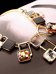 Women's Pendant Necklaces Crystal Geometric Crystal Fashion European Jewelry For Daily Casual