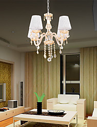 Amber Crystal Candle Chandelier ;Lamp Shade Include