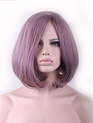 Hot Sale Sliver Mix Grey Color Wave Short BOBO Hair Synthetic Europe and America Women Wig Fashion Gife