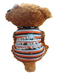 Hunde T-shirt Orange Sommer Streifen / Herzen Zebra