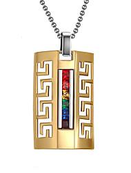 Unisex Raibow Crystal Gold Titanium Pendant for Necklace