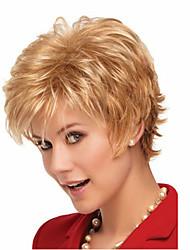 la mode des perruques millésime classique couleur blond court style naturel des femmes européennes