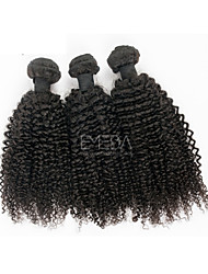 3pcs/Lot Mongolian Hair Weaving Afro Kinky Curly Human Hair Extensions Natural Black 8''-30'' Human Hair Weaves