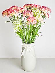 1 1 Ramo Poliéster / Plástico Cravo Flor de Mesa Flores artificiais 23.6.1inch/60cm*3.54.1inch/9cm