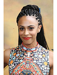 "Crochet Box Braids 24"" Box Braids Hair Extension Afro Kinky Curly Hairpieces Synthetic Braiding Hair Colors"