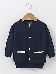 Girl's Casual/Daily Solid Sweater & Cardigan,Cotton Spring / Fall Black / Blue / Green / Red