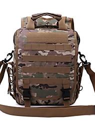 30 L Rucksack Camping & Wandern Draußen Wasserdicht / Multifunktions Armeegrün 600D Ripstop