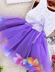 The summer wear Korean infant color small petals Princess Dress Girls skirt hem a generation
