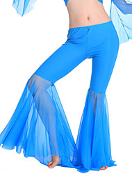 Belly Dance Bottoms Women's Training Polyester Draped 1 Piece  Belly Dance Sleeveless Natural Pants