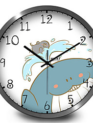 Cute Cartoon Grin Whale Children Home Furnishing Decorative Wall Clock