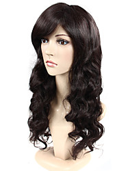 Europe Style Dark Brown  Color Top Quality Hair Synthetic Wigs