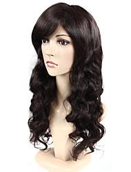 Europe de style perruques synthétiques de cheveux couleur brun foncé de qualité supérieure