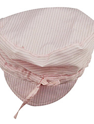 Anti-static Dust-free  Hats Hat Cap Antistatic Antistatic Coolie Hat Striped Pink Tie Hat