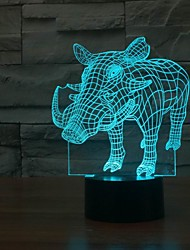 The Crazy Boar 3D Illusion LED Hand Touch Control Table Light Lamp Color-Changing Night Light