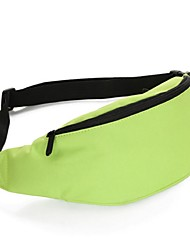 Women Waist Bag Nylon All Seasons Outdoor Zipper Black Yellow Green Blue