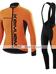 KEIYUEM®Spring/Summer/Autumn Long Sleeve Cycling Jersey+long Bib Tights Ropa Ciclismo Cycling Clothing Suits #L44