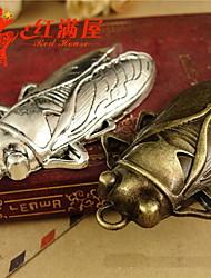 bonito prata cigarra / bronze set pendant liga de 20pcs