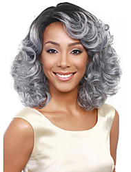 Best-selling Europe And The United States Wig 14 Inch Black Gray Gradient in Middle-Aged Wig