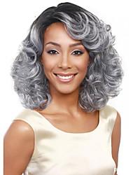 самой продаваемой в Европе и Соединенных Штатах парик 14 дюймов черный серый градиент в парике среднего возраста