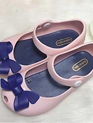 Girls' Shoes Casual PVC Flats Summer Comfort / Round Toe Flat Heel Bowknot Blue / Green / Pink / Beige
