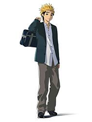 Inspiriert von Ajin Kaito Anime Cosplay Kostüme Cosplay Kostüme einfarbig Weiß Lange Ärmel Mantel / Shirt / Hosen