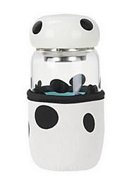 tasse 280ml de verre de champignon (couleur aléatoire)