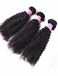 """3pcs / lot 10 productos para el cabello paloma """"28"""" pelo rizado de color negro natural del pelo virginal rizado brasileño sin procesar"""
