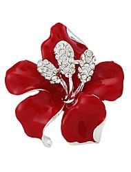 моды роскошь розового цветка броши женщин свадебного подарка брошки булавки