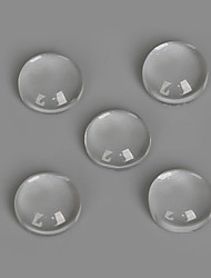 Beadia 50Pcs 8mm Flat Round Transparent Glass Cabochon