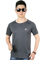 Autres Homme Séchage rapide / Doux Sport de détente Hauts/Tops / Tee-shirt Jaune / Vert / Gris / Noir