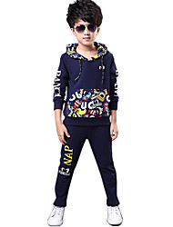 Boy's Cotton Spring/Autumn New Style Fashion Kids Clothes Long Sleeve Tops And Pants Two-Piece Set
