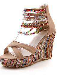 Women's Shoes  Heel Wedges / Heels / Peep Toe / Platform Sandals Wedding / Evening / DressBlue / Pink / Almond