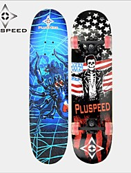 """Skateboard 31"""" 11mm Chinese 9-ply maple deck ABEC-3 High Speed bearings Wheels 58x32mm Hot Stamping Process Design"""