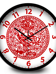 The Festive Paper-Cut Decoration Stickers Home Furnishing Quartz Wall Clock