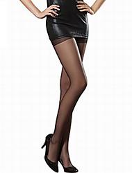 Women Thin Pantyhose,Core Spun Yarn / Nylon Sexy long Stockings Hook Silk Tights 16D