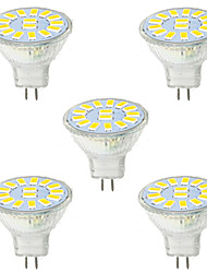 5W GU4(MR11) Decoration Light MR11 15 SMD 5730 480LM lm Warm White / Cool White Decorative 9-30 V 5 pcs