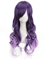 la mode à long vague ombre mauve 65 cm perruques de cosplay de style mignon lolita