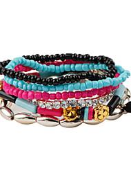 Strand Bracelets 1pc,Assorted Color Bracelet Bohemia Style Round Resin Jewellery