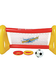Child Water Spray Inflatable Football Door Volleyball With Bumper Ball And Plastic Plaste