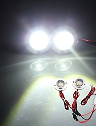 Car 2 LED Strobe Bulb Light Emergency Warning Flash DC 12V 5W + Controller