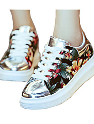 Women's Spring / Fall Comfort Leatherette Casual / Athletic Flat Heel Lace-up Multi-color