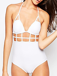 Women's Cut Out  Sexy Halter Bandage One Piece Swimsuit