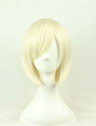 Europe And The United States A Cosine Color Wig BoBo Bleach Blonde 10 Inch High Temperature Short Straight Hair Silk Wig