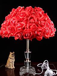 lámpara de cristal de feliz matrimonio junto a la cama del dormitorio de la lámpara de iluminación creativa rosas