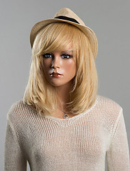 Graceful Medium Loose Straight Capless Human Hair Wig