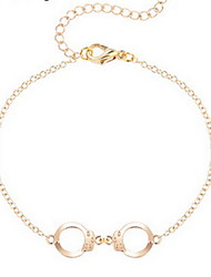 Kimiing Gold/Silver Handcuffs Chain Bracelet Jewelry